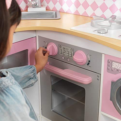 KidKraft 53185 Grand Gourmet Eck-Spielküche, rosa & weiß - 5