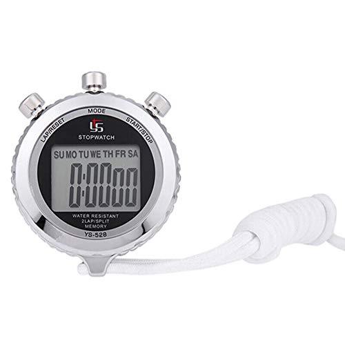 Cronómetro, 1/100 segundos, cronómetro deportivo digital de metal, cronómetro de pantalla grande y preciso para partidos deportivos, competición, árbitro, entrenamiento, temporizador.