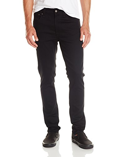 Nudie Jeans Men's Lean Dean Dry Cold Black, Dry Cold Black, 30x32