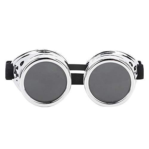 Junluck Gafas Vintage, Almohadilla de Nariz Ajustable y Pantalla de desmontaje y Lentes Gafas Steampunk,…