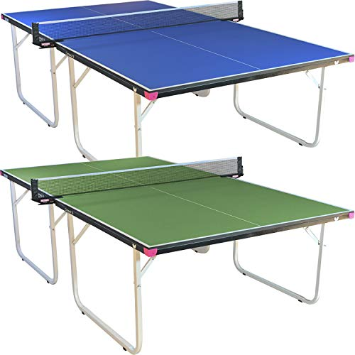 Butterfly Compact 16 Ping Pong Table | 3 Year Warranty Table Tennis Table | Ships Fully Assembled | Space Saver Ping Pong Table for Your Game Room | Ping Pong Net Set Included