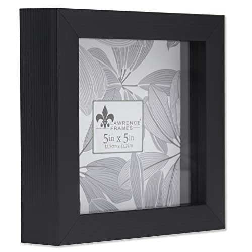 Lawrence Frames 785055 Shadow Box Frame, 5x5, Black