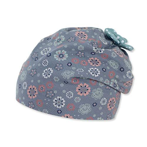 Sterntaler Baby-Mädchen Slouch 1402162 Beanie-Mütze, Blau, 49