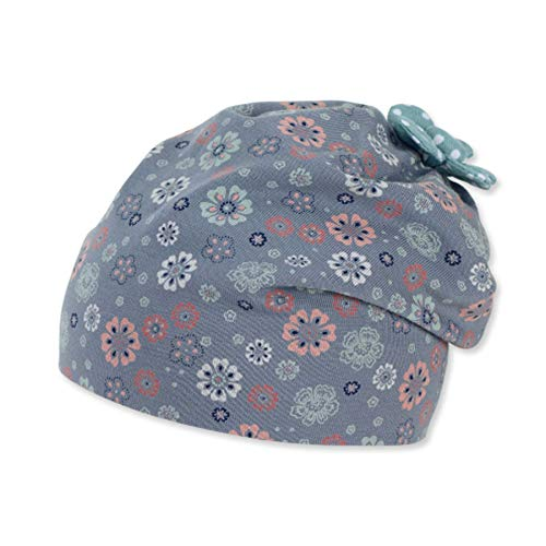Sterntaler Baby-Mädchen Slouch 1402162 Beanie-Mütze, Blau, 47