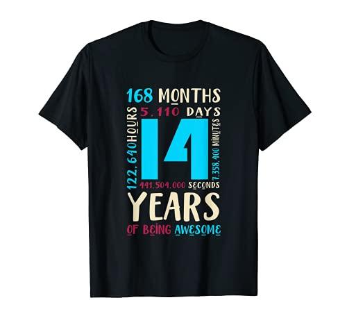 14. Geburtstag Kinder Geschenke 14 Jahre Alt Jungen Madchen T-Shirt