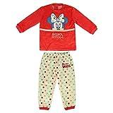 Artesania Cerda Largo Minnie Conjuntos de pijama, Rojo (Rojo C06), 24m para Bebés