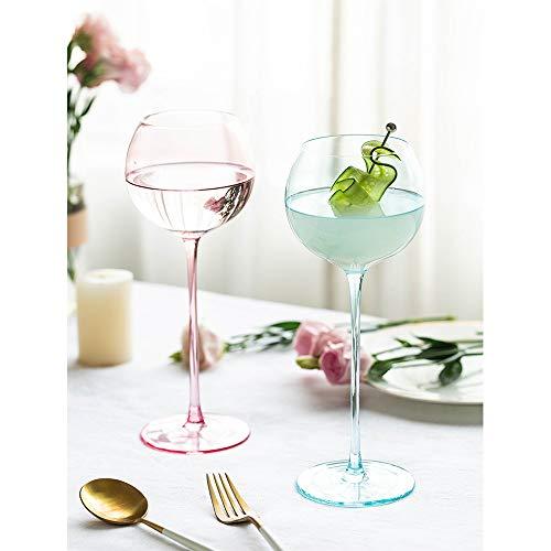 DYCLE Partido de la Copa de Vino Personalizada Vino vidrios creativos Regalo Copa de Vino Rojo Hermoso para la Esposa,1 Blue...