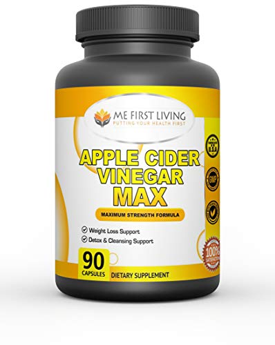 Me First Living Apple Cider Vinegar Capsules, Natural Immune Boost, Detox and More with Spirulina, Lecithin, Kelp, Apple Pectin, Bromelain, Potassium and Vitamin B-6, 90 Capsules
