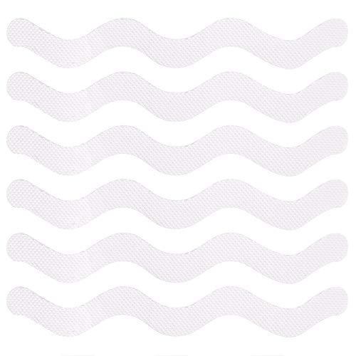 Tiras antideslizantes para ducha y bañera 24 Piezas Transparente adhesivos antideslizantes Pegatinas de Tiras para Baño y bañera 18,2 x 2,6 cm
