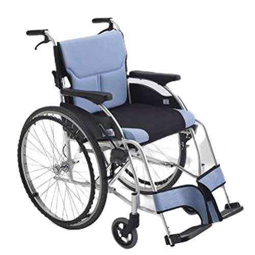 SPAQG opvouwbare rolstoel transportsteun met parkeerrek, ultrahandig opvouwbare rolstoel, 17,3 inch zitting, massieve band