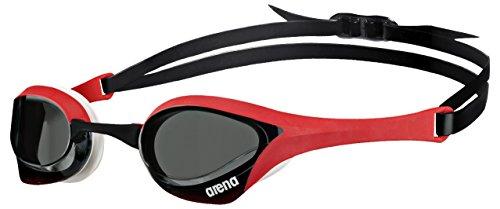 Arena Cobra ULTRA Occhiali da Nuoto, Unisex adulto, Unisex adulto, Cobra Ultra, Nero (smoke / Rosso / Bianco), Taglia unica