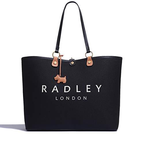 Radley London Addison Gardens - Borsa a tracolla media aperta, Nero...