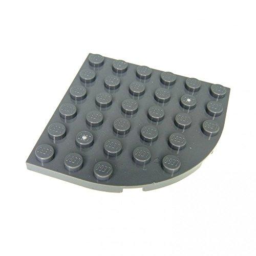 2 x Lego System Bau Platte neu-dunkel grau 6 x 6 Ecke rund 76038 7739 8487 76003 79115 6003