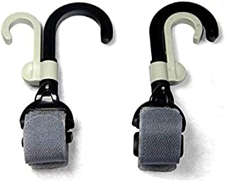 Stroller Hook and Holder with Double Rotate Hanger/Holder | Must Have Stroller Pram Accessory (2 Pieces)