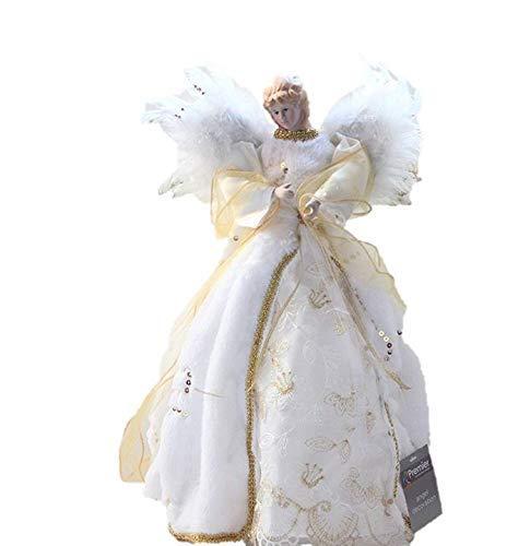 Ali d'angelo in finta pelliccia e paillettes color oro e avorio