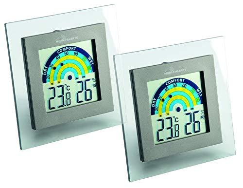 ELV Mobile Alerts Thermo-/Hygrometer MA10230, mit Klimakomfortanzeige im Tagesverlauf, 2er-Set