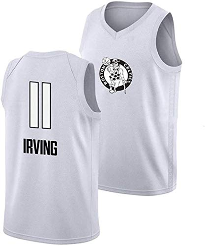 TPPHD Jerseys de Baloncesto de los Hombres, NBA Boston Celtics 11# Kyrie Irving Swingman Jersey, Vintage Fresco Tela Transpirable All-Star Uniforme Uniforme,L