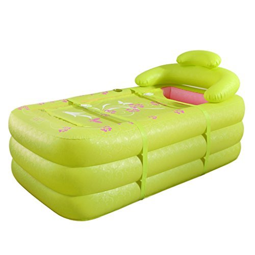 GJ- Deux personnes baignoire gonflable baignoire d'épaississement baignoire pliante en plastique Baignoires adulte ( Couleur : Vert )