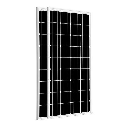 SUNGOLDPOWER 2pcs 100W Solar Panel Monocrystaline Solar Panel Module Grade A Solar Cell