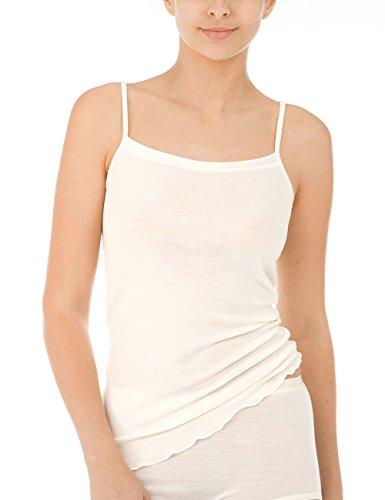 CALIDA Damen True Confidence Spaghetti-Top Unterhemd, Cream White, 44/46