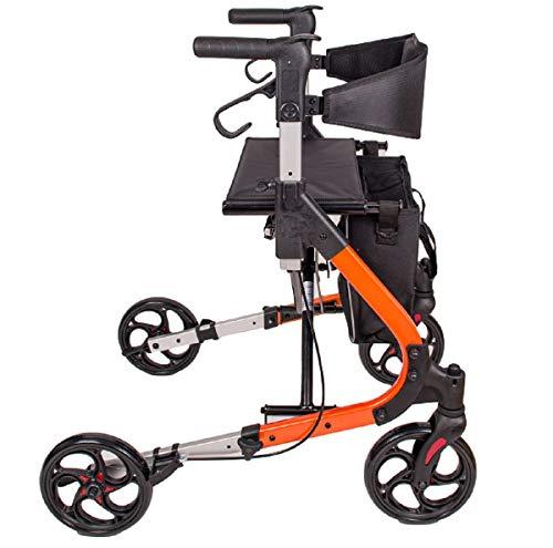 Antar AT51034 Rollator Farbe Orange Mit Einkaufstasche Und Rückengurt