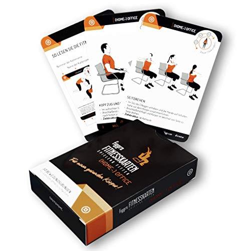 figgrs Trainingskarten Fit im (Home-) Office I 50 Fitnessübungen für einen gesunden Körper I besonders geeignet für Vielsitzer I im Büro und überall durchführbar I für Männer und Frauen