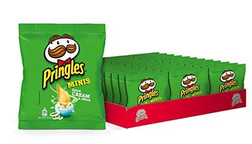 Pringles Minis Sour Cream & Onion | Sourcream Chips | 36 Tüten je 30g | 36er Party-Pack (36 x 30g)