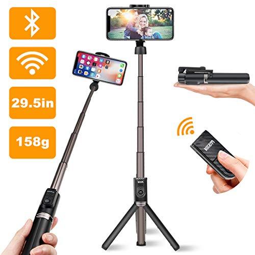Viixm Bastone Selfie Bluetooth, Estensibile Selfie Stick Treppiede con Bluetooth Remote Shutter per iPhone X/XR/7/8/XS/6S/Max, Samsung, Huawei, Xiaomi Android iOS 3.5-6 Pollici Smartphone