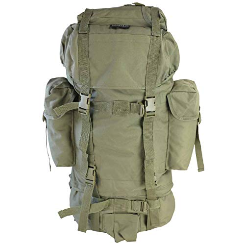 60L Cadet Sac à dos avec poches latérales – Olive