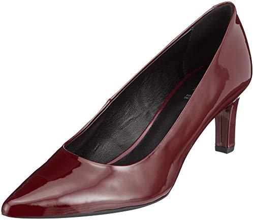 Geox D Bibbiana A, Scarpe con Tacco Donna, Rosso (Bordeaux C7005), 39 EU