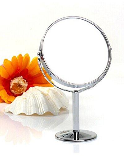 SAMGU Round table pivotant Miroir gratuit Salle de bains Rasage miroir de maquillage double face