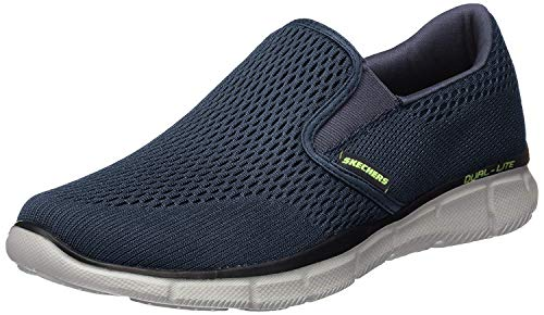 Skechers Equalizer-Double Play, Zapatillas sin Cordones Hombre, Multicolor (NVY Black Engineered Mesh/Trim), 42 EU ✅