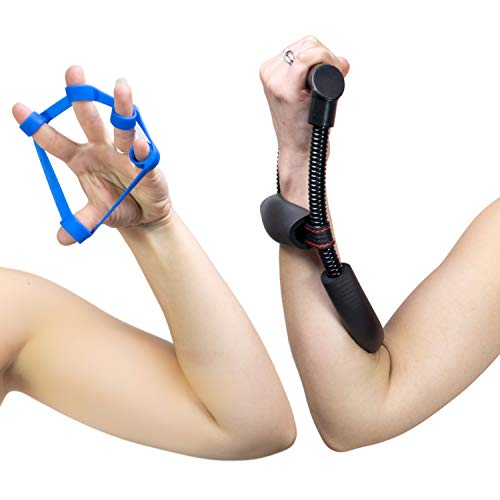 Catchy  Forearm Blaster and Finger Exerciser Home Workout Equipment Set Workout Your Wrist Hand Forearm and Grip Exercise Without Gym Weights or Gear as a Strength Trainer for Men and Women