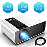 Projector WayGoal Portable Mini Projector, 4800 Lumens and Full HD 1080p and 200