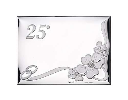 Placa 25 Aniversario 13x18 Personalizada Bodas de Plata