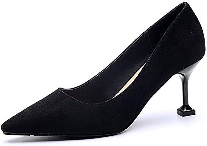 Jqdyl Talons Hauts Printemps Nouveau Talons Hauts Femme avec des Chaussures Simples Sauvages Professionnelles Femmes Chaussures