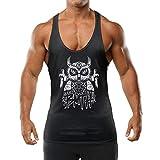 UEWAii Muscle T Shirt Slim Stringer Bodybuilding Sleeveless Gym Tank Tops Fitness Vest for Mens