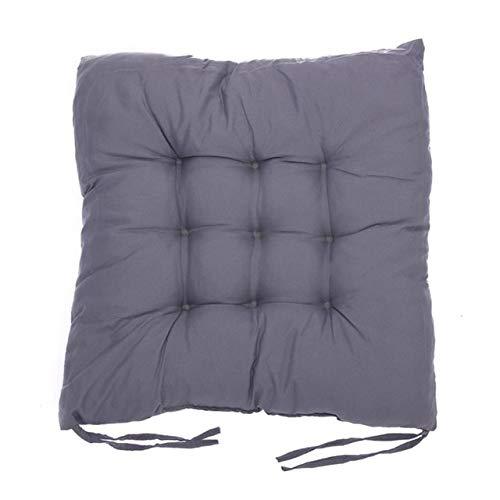 RAQ zitkussen van katoen, zacht en comfortabel, voor bureaustoel, winter, barstoel, tapijtkussens 1 Donkergrijs