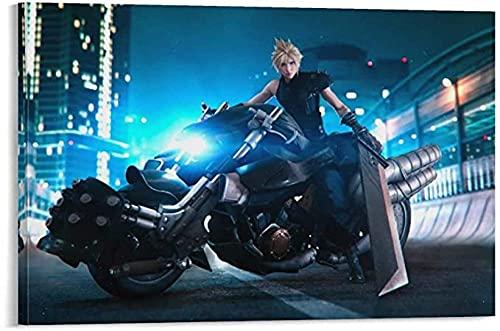 FZSMXH Imprimir En Lienzo 50x70cm Sin Marco Gaming Final Fantasy VII Remake para Adolescentes Cloud Strife (4) Dormitorio Deportes Paisaje Oficina Habitación Decoración Regalo