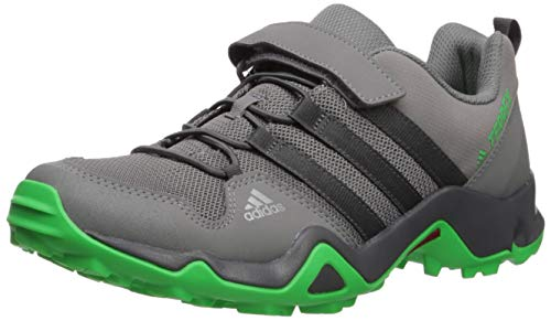 adidas outdoor Kids' Terrex AX2R CF Hiking Boot, Grey Four/Active Green, 13.5K Child US Little Kid