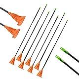 SHARROW 12pcs Flechas Ventosa Flechas de Niños Sucker Arrow Caza Práctica de Tiro al Aire Libre para el Recurvo Compuesto Flechas de Arco Juego Juego de Juguete para Jóvenes (Naranja)