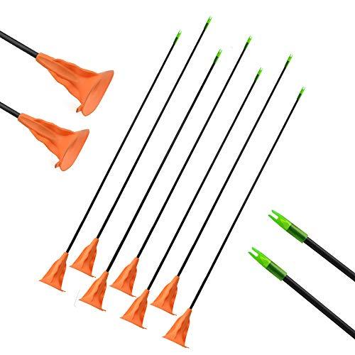 SHARROW 12pcs Flechas Ventosa Flechas de Niños Sucker Arrow Caza Práctica de Tiro al Aire Libre para el Recurvo Compuesto Flechas de Arco Juego Juego de Juguete para Jóvenes