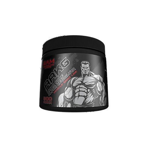 B.A.M. Ultra Pure Arginine - Ketoglutarato Regeneración Bomba Aminoácido Suplemento Fitness Culturismo - 300g