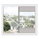 Cortina de pantalla magnética Mosquitera para ventana blanca, Cortina de malla de malla para ventana autoadhesiva, Fibra de vidrio, Material de pantallas de ventana de repuesto, Mantiene a los insect