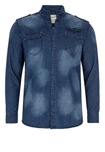 Goodyear Fashion Herren Comfrey Hemd, Blue Denim Used, XL