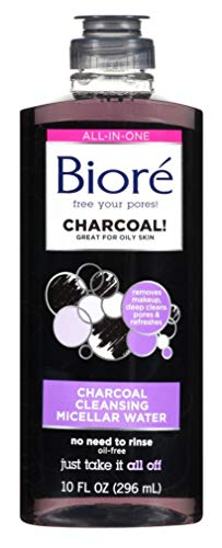 Kao-Biore Charcoal Cleanser Micellar Water Ounce 296ml, 10 Fl Oz