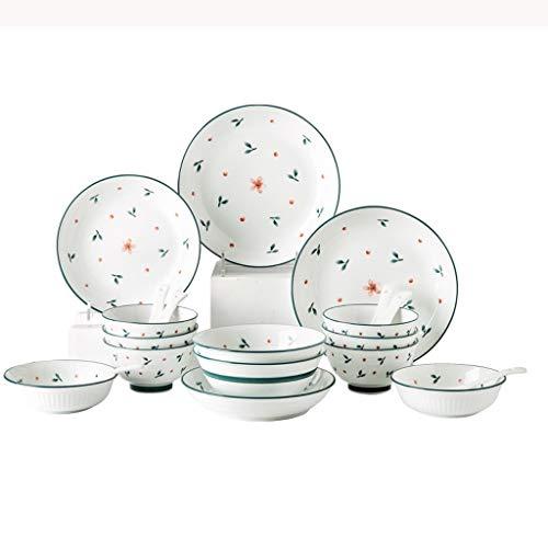 WYBFZTT-188 Ceramic Material Design, 20-piece Tableware Set, Dish Set, Household Dish Set, Spoon Set