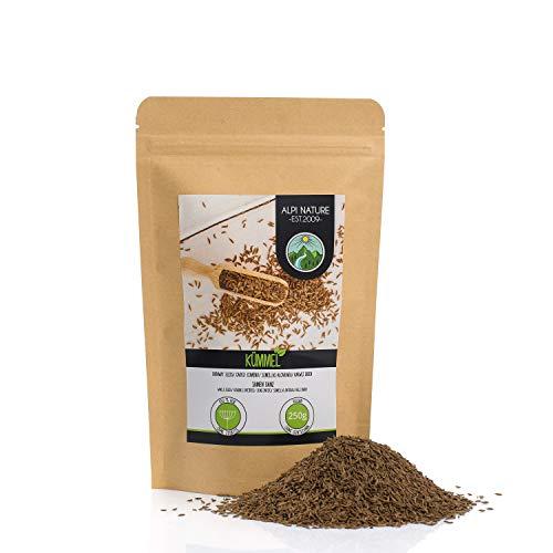Semillas de alcaravea enteras (250g), semillas de alcaravea 100% naturales, especia de alcaravea naturalmente sin aditivos, veganas