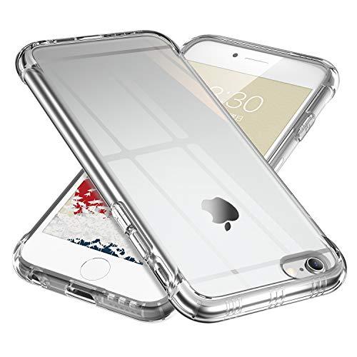 ONES 高透明 iPhone 6s/6 ケース 耐衝撃 超軍用規格 『エアバッグ、半密閉音室、ストラップホール』〔滑り止め、すり傷防止、柔軟〕〔美しい、光沢感、軽·薄〕 衝撃吸収 HQ·TPU クリア カバー