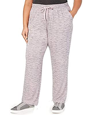 Ideology Womens Plus Fitness Running Sweatpants Pink 3X